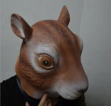 China Halloween decoration Resin Face Mask Squirrel Mask Adult Party Masquerade Latex Mask on sale