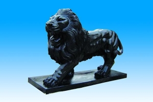 China Marble animal lion sculpture with high quality on sale