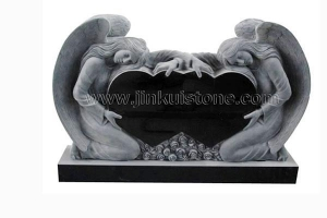 China Headstones And Monuments Double hearts angle American Monument on sale