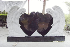 China Headstones And Monuments Double heart tombstone on sale