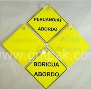 China Baby On Board Car Warning Sign GM-PP1203015 on sale