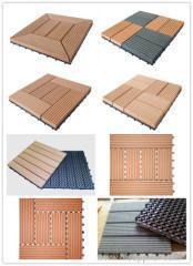 China WPC DIY tiles wood plastic tiles waterproof DIY WPC flooring on sale