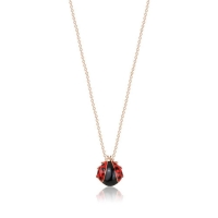 Necklace Stainless Steel Children's Ladybug Necklace