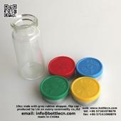 China tubular 10ml glass vials for steroids clear glass sealable bottles with rubber cap on sale