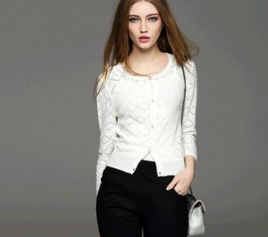 China d10639b 2016 european women clothing round neck long sleeve knitted women cardigan on sale