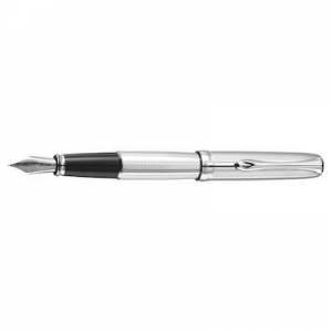 China Diplomat - Fountain Pen - Exc. A Guilloch Stripes Chrome on sale