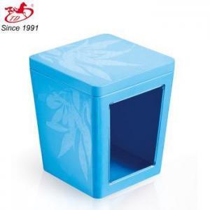 China custom printed tin box with Plastic window Skype:tengdadina on sale
