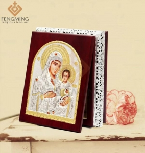 China Virgin Mary with Jerusalem Religious Icons Framed on sale