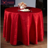 Elegant jacquard wedding table cloth