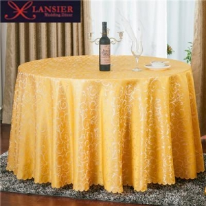 China 1Polyester Jacquard Table cloth Hotel Dining Round Table Cloth Luxury Wedding Table Cover on sale