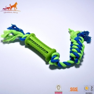 China Durable Dental Rope Dog Toy Blue on sale
