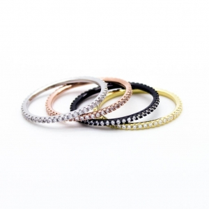 China Stacking sterling silver rings set $43.00 on sale