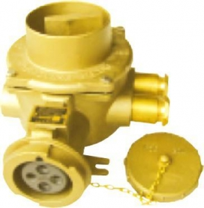 China Marine connector series Marine 32A brass socket with interlock switch on sale