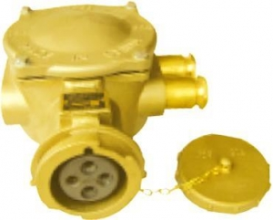 China Marine connector series Marine 32A brass socket on sale