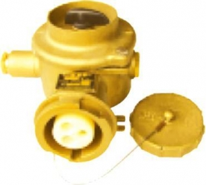 China Marine connector series Marine 16A brass socket with switch on sale