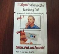 China Breathalyzer Disposablebreathalyzers /Alcohol test strips/One time use breathalyzer. on sale