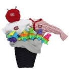 Montreal Canadians Red Baby Basket