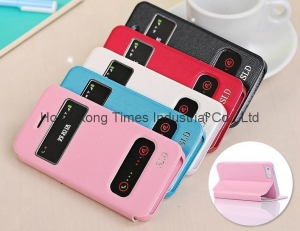 China Apple iphone 5s phone case, i5s PU windonw protect case on sale
