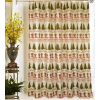 Products Christmas fabric shower curtains