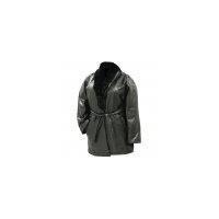 China Lambskin Leather Ladies Coat with Rabbit Fur Collar - XLarge on sale