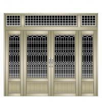 China Aluminum door Aluminum casement door 5mm+9A+5mm double glazed double tempered glass on sale