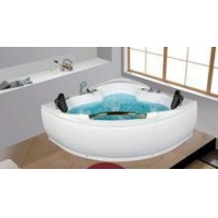 China supplier Bathroom Corner Whirlpool Bath tub CE Two People
