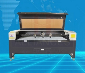 China Metal and nonmetal cutting equipment 3 heads CNC co2 laser cutting machine for on sale