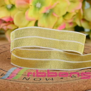 China Gold Fold Over Elastic Ribbons on sale