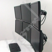 China TS746A Multi Mounts - 6 LCD / LED Monitor Stand on sale