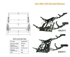 China SA3311 Manual Recliner Chair/ Sofa Mechanism on sale