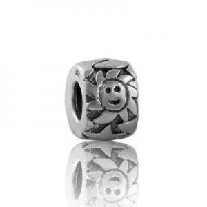China Pandora Charm with Sunflowers and Stars Engraved Sterling Silver code: Pandora_767 on sale
