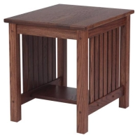 Mission Solid Oak End Table  21 x 25