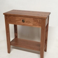 China Solid Oak Small Hall Table W/ Drawer on sale