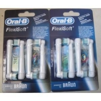 Braun Oral-B Brush heads Oral B Flexisoft EB 17-4 Electric toothbrush heads