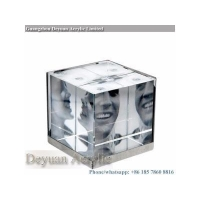 Prismatice diffuser sheet 3D acrylic cube photo picture frame