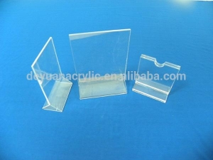 China best quality clear acrylic menu holder/table magnetic acrylic menu holder wholesale on sale