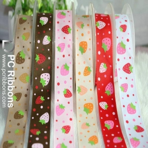 China Ribbon bows&trimmings Character printing grosgrain ribbon for celebrate on sale