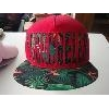 China 5 panels printing hollow cut Applique flat cap for sale