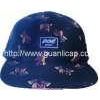 China 16*10 polo cotton twill 5 panel flat visor print cap for sale