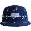 China 16*10 polo cotton twill 5 panel emb. flat visor cap for sale