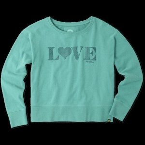China Women's Quilted Love Go-To Crew Sweatshirt on sale