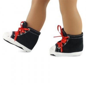 China 18-inch Doll Shoes - Black High Top Sneakers - fits American Girl  Dolls on sale