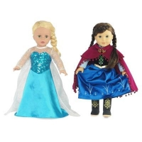 18-inch Doll Clothes - Princess Elsa and Anna Inspired Outfit Set - fits American Girl  Dolls