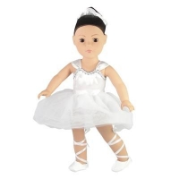 China 18-inch Doll Clothes - Ballet Leotard and Slippers with Hair Scrunchy - fits American Girl  Dolls on sale