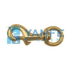 China Solid Brass Harness Swivel Eye Bolt Snap Hooks on sale