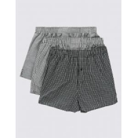 Underwear Pure Cotton Easy to Iron Monochrome Grid Checked Boxers/Underwear
