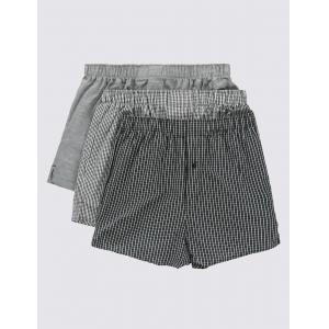 China Underwear Pure Cotton Easy to Iron Monochrome Grid Checked Boxers/Underwear on sale