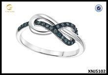 China 925 Sterling Silver Blue Diamond Infinity Ring, Silver Jewellery Wholesale on sale