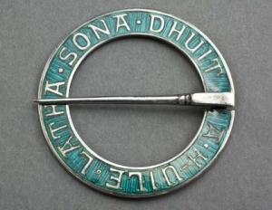 China Iona Silver and Enamel Annular (Marriage) Brooch - Alexander Ritchie - May All Your Days Be Happy on sale