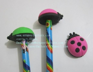 China LXA25 ladybug pencil toppers on sale